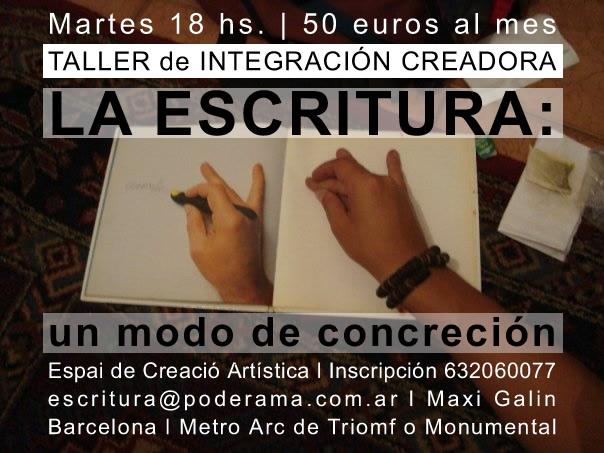 TALLER de ESCRITURA de Maxi Galin | Martes 18.30 hs.